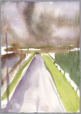 Storm on route, 1995 by Claudia Hutchins-Puechavy