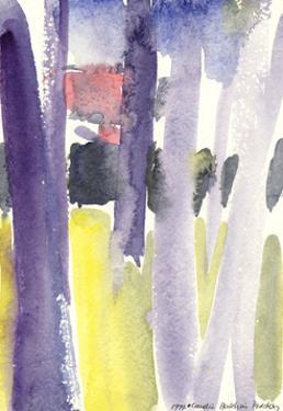 Trees in a garden, 1997 by Claudia Hutchins-Puechavy