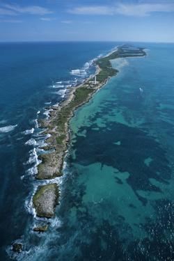 Aerial View of Contoy Island from the North by Claudio Contreras