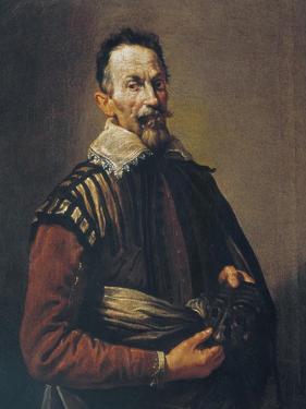 Claudio Monteverdi Holding the Mask of Tragedy, 1640