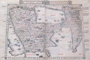 Sexta Asiae Tabula, 1511 by Claudius Ptolemy