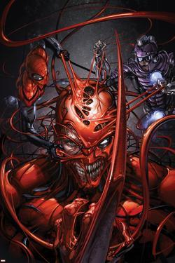 Superior Carnage #5 Cover: Carnage, Spider-Man, Wizard by Clayton Crain