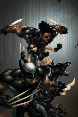 X-Force No.1 Cover: Wolverine, X-23, Wolfsbane and Warpath by Clayton Crain