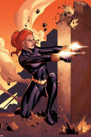 Marvel Adventures Super Heroes No.10 Cover: Black Widow Shooting