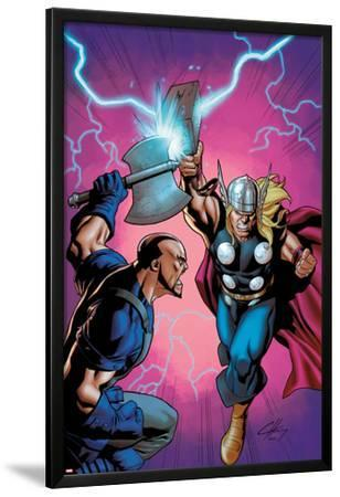 Marvel Adventures Super Heroes No.6 Cover: Thor Fighting
