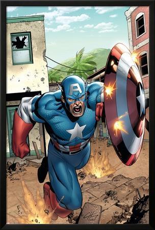 Marvel Adventures Super Heroes No.8 Cover: Captain America