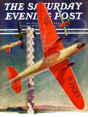 """""""Airshow,"""" Saturday Evening Post Cover, September 4, 1937 by Clayton Knight"""