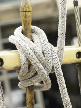 Cleet with Rope Tying Boats