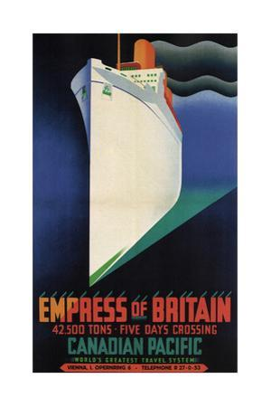 Rms Empress of Britain by Clement Dane