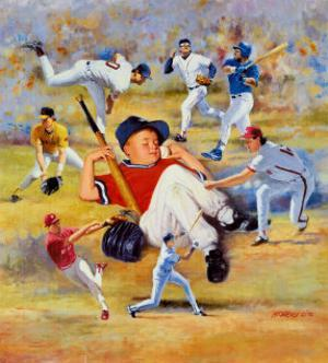 Little Leaguer by Clement Micarelli