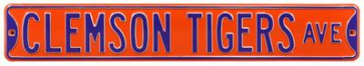 Clemson Tigers Ave Steel Sign