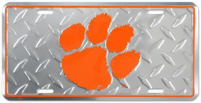 Clemson Tigers Diamond License Plate