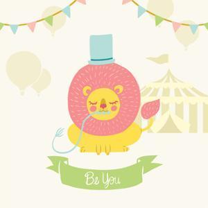 Little Circus Lion Pastel by Cleonique Hilsaca