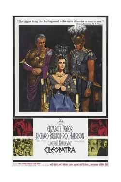 Cleopatra, Rex Harrison, Elizabeth Taylor, Richard Burton on Poster Art, 1963