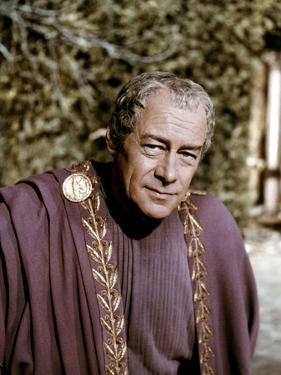 Cleopatre Cleopatra, by Joseph Mankiewicz with Rex Harrison, 1963 (photo)
