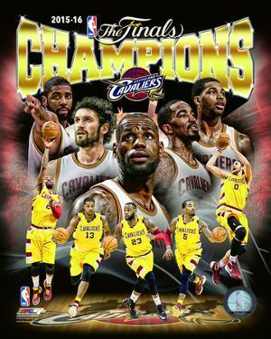 Cleveland Cavaliers 2016 NBA Champions Composite