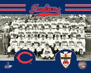 Cleveland Indians 1948 World Series Champions Team Sit Down Photo