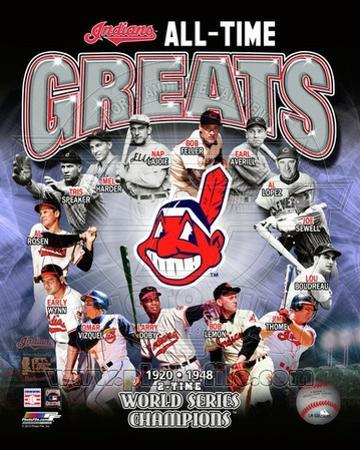 Cleveland Indians All Time Greats Composite