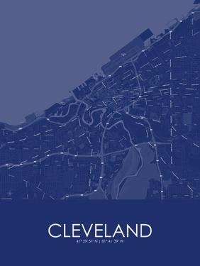 Cleveland, United States of America Blue Map