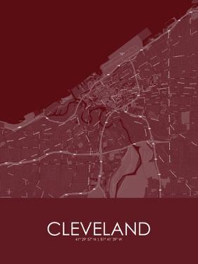 Cleveland, United States of America Red Map