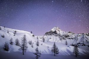 Amazing Starry Sky over the Scalino Peak Seen from Prabello Alp. - Valmalenco, Sondrio, Lombardy by ClickAlps
