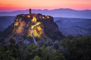 Civita di Bagnoregio, Viterbo, Lazio, Central Italy, Europe. Sunrise over Civita di Bagnoregio by ClickAlps