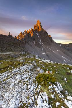 Dolomites, Italy. The first lights on Paterno, in summertime. by ClickAlps