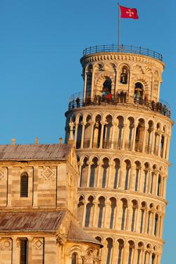 Europe,Italy,Tuscany,Pisa. Detail of the tower and the cathedral by ClickAlps