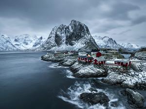 Hamnoy - Lofoten Islands, Norway Coastal Rocks and Mountains. by ClickAlps