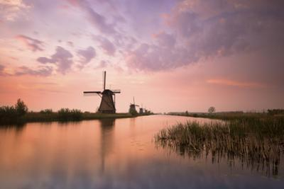 Kinderdijk, Netherlands the Windmills of Kinderdijk Resumed at Sunrise. by ClickAlps