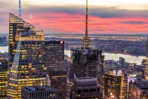 Midtown Skyline with Empire State Building from the Rockefeller Center, Manhattan, New York City by ClickAlps