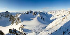 Panoramic view from summit of Hintere Jamspitze. Switzerland, Europe. by ClickAlps