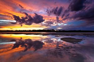 Po river park, Piedmont, Italy. Colours and clouds on a wetland near the Po river. by ClickAlps