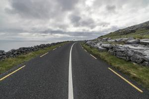 Road in Burren National Park, Munster, Co.Clare, Ireland, Europe. by ClickAlps