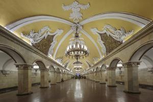 Russia, Moscow, Komsomolskaya Metro by ClickAlps