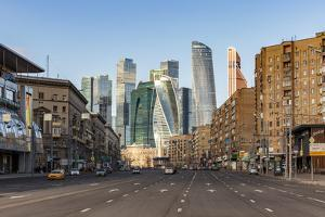 Russia, Moscow, skyscrappers of the Modern Moscow-City International business and finance developme by ClickAlps