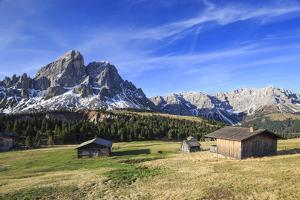 Sass de Putia in background enriched by green meadows. Passo delle Erbe. Puez Odle South Tyrol Dolo by ClickAlps