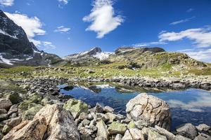 Summer day at Lake Grevasalvas Engadine Canton of Grisons Switzerland Europe by ClickAlps