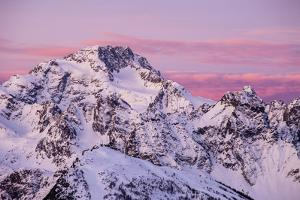 Sunrise on the Disgrazia Mountain in Winter, Malenco Valley, Lombardy, Italy by ClickAlps