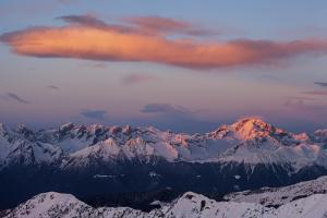 Sunset on the Masino Group at Disgrazia Peak, Lombardy, Italy by ClickAlps