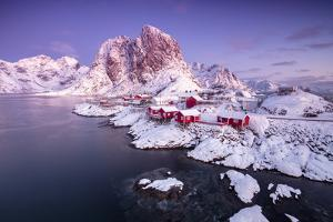 The fishing village Hamnoy, Nordland,Lofoten Islands, Norway, Europe by ClickAlps