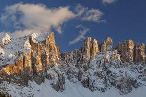 The Latemar Spiers at Sunset from Carezza Lake, Trentino Alto-Adige, Italy by ClickAlps