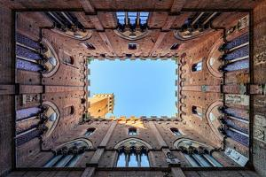 View from the courtyard of Public Building of Siena. Europe. Italy. Tuscany. Siena by ClickAlps