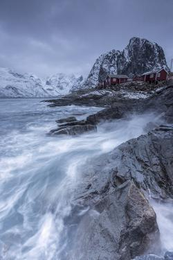 Waves Crashing on the Cliffs Near the Houses of the Fishermen by ClickAlps