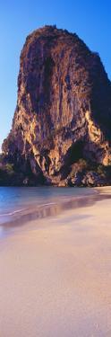 Cliff on the Beach, Railay Beach, Krabi, Krabi Province, Thailand