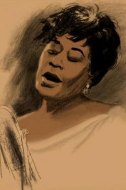 Ella Fitzgerald by Clifford Faust