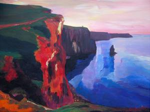 Cliffs Of Moher In County Clare Ireland At Sunset Aillte An Mhothair by M Bleichner