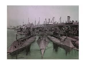 Decommissioned Ships and Submarines Await their Fate by Clifton and Edwin Adams and Wisherd