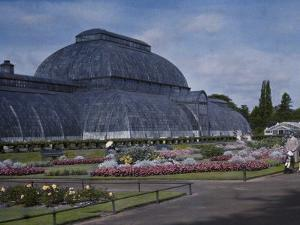 Glass-Enclosed Palm House in Kew Gardens by Clifton R. Adams