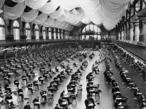 Midshipmen at the Naval Academy Endure a Five-Hour Long Exam by Clifton R. Adams